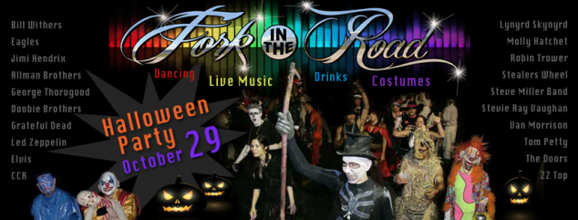 2016 Rockford IL Halloween Party Costume Contest LIVE music by Fork in the Road classic rock