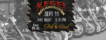 Kegel Harley Davidson LAST Bike Night of the season, September 11 2015.  Entertainment by Fork in the Road band.